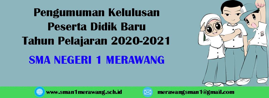 Pengumuman Kelulusan PPDB 2020-2021 SMA Negeri 1 Merawang