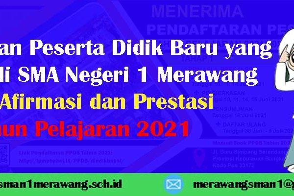 Pengumuman Peserta Didik Baru yang Diterima di SMA Negeri 1 Merawang Jalur Afirmasi dan Prestasi Tahun Pelajaran 2021/2022