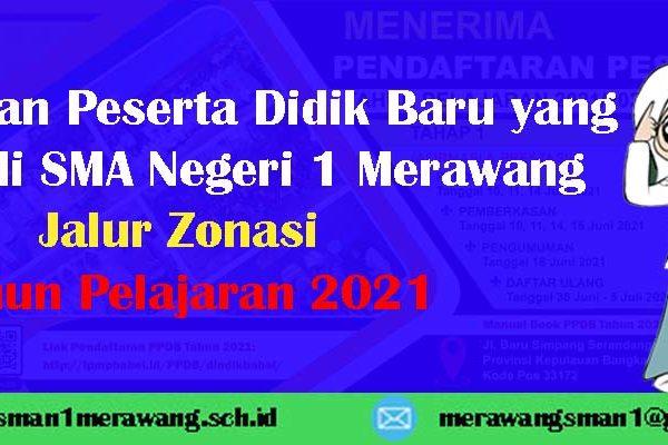 Pengumuman Peserta Didik Baru yang Diterima di SMA Negeri 1 Merawang Jalur Zonasi Tahun Pelajaran 2021/2022